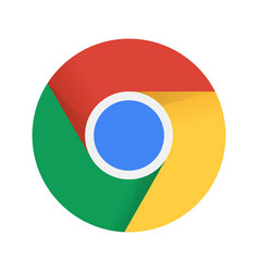 Browser chrome emblem vector
