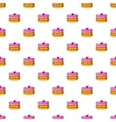 Cake pattern cartoon style vector