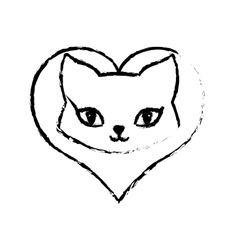 Cat breed animal mammal love sketch vector