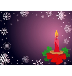 Christmas greeting card in dark purple vector