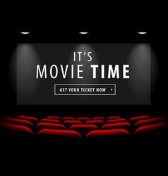 Cinema screen view vector