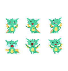 cute dragon cartoon character in different vector image