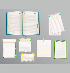 diary and message notes vector image