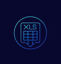 Download xls document linear icon vector