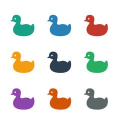 Duck icon white background vector