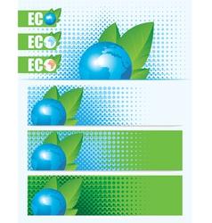 eco planet vector image