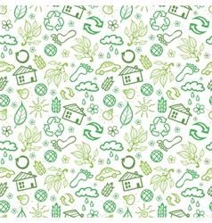 Ecology symbols seamless pattern background vector