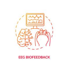 Eeg biofeedback concept icon vector