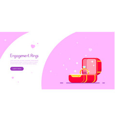 engagement ring banner design vector image
