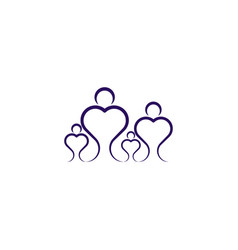 family symbol logo people icon design element vector image