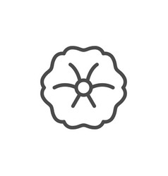 flower head line outline icon vector image