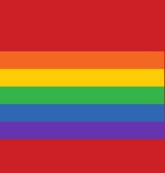gay pride movement rainbow banner flag flat vector image