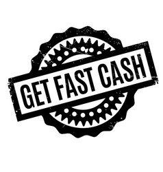Get fast cash rubber stamp vector