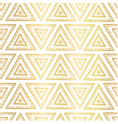 gold foil triangles seamless background vector image