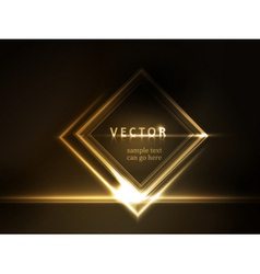 Golden glowing frame vector image