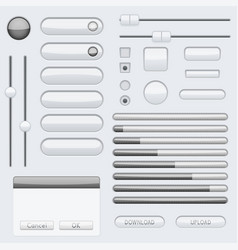 gray interface buttons vector image