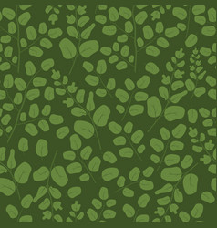 green leaves seamless pattern flat template vector image