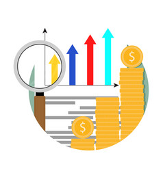 growth market financial analysis chart icon vector image