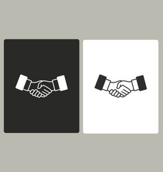 Handshake - icon vector