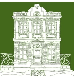 House on green vector
