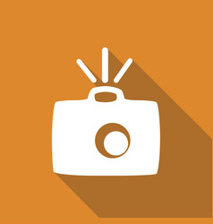 Icon camera with a long shadow vector