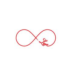 Infinity love symbol vector