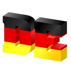 Internet top-level domain of germany vector