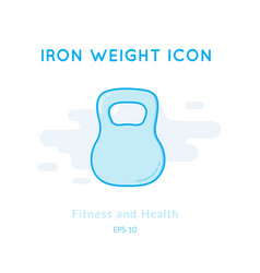Iron weight icon isolated on white vector