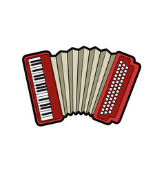 isolated accordion music instrument vector image
