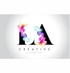 La vibrant creative leter logo design with vector