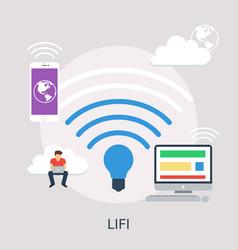 lifi conceptual design vector image