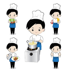 Little boy chef vector