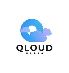logo cloud gradient colorful style vector image