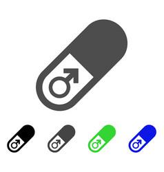 Male power pill icon vector