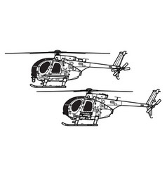 Md helicopters mh-6 ah-6 little bird vector