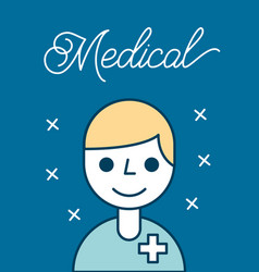 Medical health care vector