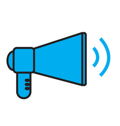 megaphone concept news digital internet design vector image