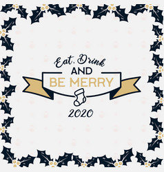 merry christmas season graphic print t shirt vector image