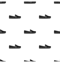 Moccasin icon in black style isolated on white vector image
