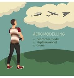 Modeling aircraft aeromodelling vector image