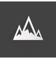 Mountains web icon vector image