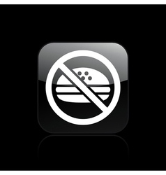 no food icon vector image