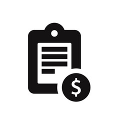 notepad icon with dollar sign vector image