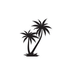 Palm tree icon template vector