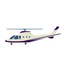 passenger helicopter isolated icon vector image