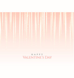 pink light effect background for valentines day vector image