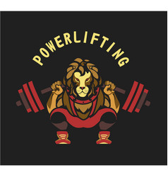 Powerlifting barbell squat vector