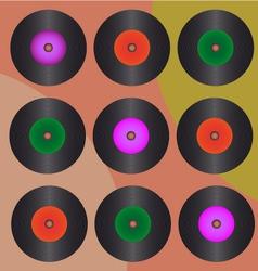 Retro Records vector image