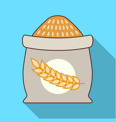 sack of wheat icon flat style vector image
