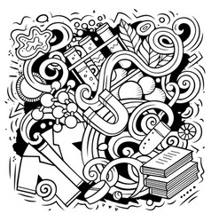 science cartoon doodle design vector image